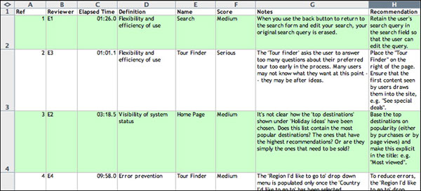 Heuristic Evaluation with Morae