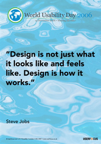 Design is not just what it looks like and feels like. Design is how it works.