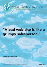 A bad web site is like a grumpy salesperson.