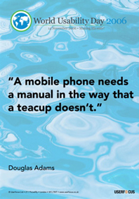 A mobile phone needs a manual in the way that a teacup doesn't.
