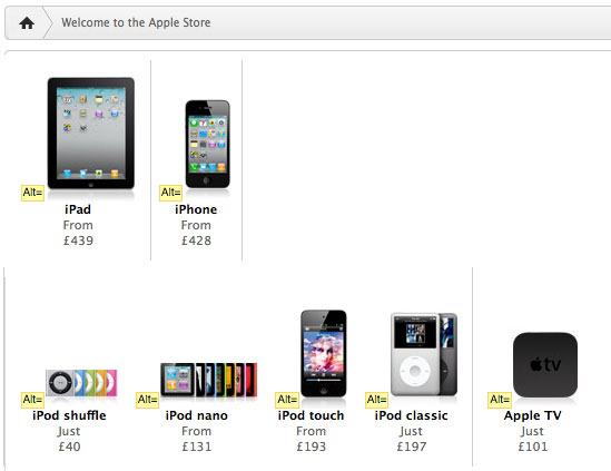 Apple Store screenshot