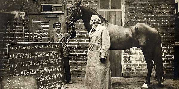 Clever Hans with his trainer