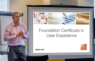 A photo of Dr David Travis delivering in-person User Experience training